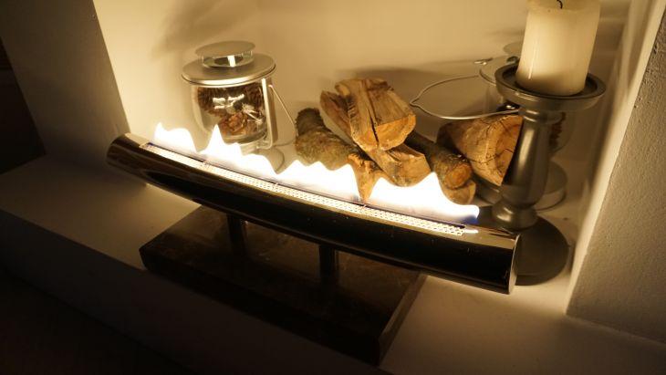 Биокамин  Гефест на основании из искусственного камня