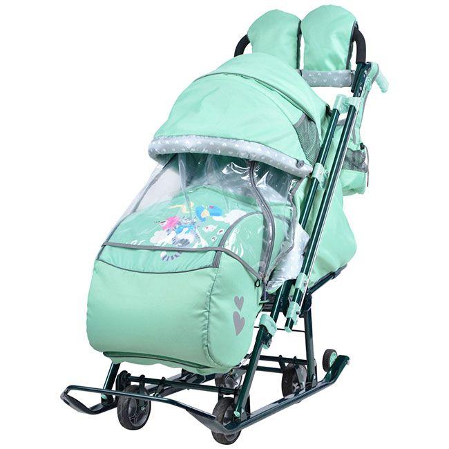 Санки-коляска цвет мятный Nika