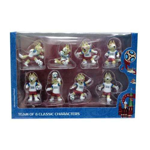 Фигурки ПВХ Волк Забивака Classic, 6 см Единая упаковка с 8 персонажами РФ